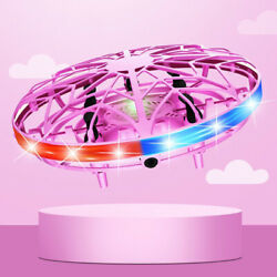 LED Mini UFO Drone Hand Sensor Operated Aircraft Flying Toy Rechargeable Boy Kid $13.82