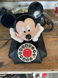 Mickey Mouse Disney Vintage Desk Telephone Touch Tone Button Mickey Talks $25.00