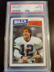 JIM KELLY 1987 TOPPS #362 RC ROOKIE PSA 10 TOP 12% OF GRADES $289.00