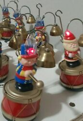 Mr. Christmas 8 Musicians Santa#x27;s Marching Band Vintage 16 Brass Bells 35 Carols $150.00