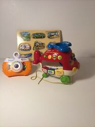 Toddler Toys Lot Vtech Helicopter amp; Camera Sound Puzzle Clean Educational Fun $12.00