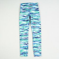 Lululemon Wunder Under Women#x27;s Size 4 High Rise Green Blue Workout Leggings $46.00