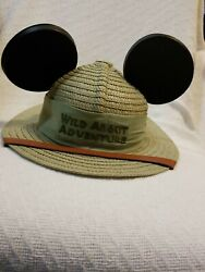 Disney Parks Animal Kingdom quot;Wild About Adventurequot; Mouse Ear Youth Safari Hat $25.00