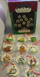 Breckenridge Holidays 12 Days Of Christmas Tree Ornaments Porcelain 1992 $35.00