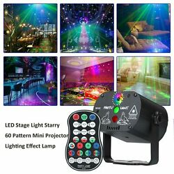 LED 60 Pattern Laser Projector RGB Stage Lighting Party KTV DJ Disco Lights Club $21.97