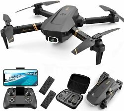 RC Quadcopter Foldable Drone with 1080P 4K HD Dual Camera FPV Video App Control $53.99