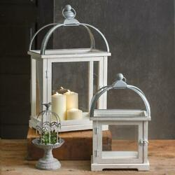 Wood and Metal Farmhouse Candle Lanterns Set of 2 $199.00