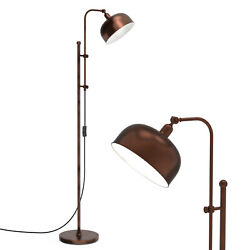 Industrial Floor Lamp Standing Pole Light w Adjustable Lamp Head amp; Height Bronze $69.99