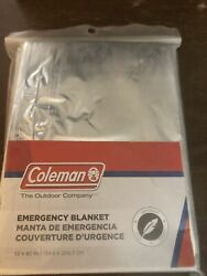 Coleman Emergency Blanket 53x82quot; Aluminized Polyester Protection Camping Outdoor $5.00