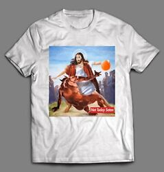 NOT TODAY SATAN JESUS CROSSOVER BASKETBALL HIGH QUALITY SHIRT *MANY OPTIONS* $16.99