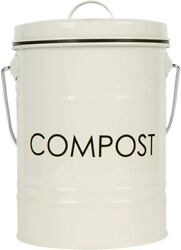 Be Eco Friendly Rustic Shabby Chic Metal Countertop Compost Bin $48.95