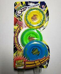 Maui Toys Pop Mini Sky Bouncers 3 Pack Rare Hard to Find HTF Damaged Package New $44.54