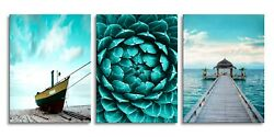 Beach Canvas Wall Art Landscape Wall Paintings Picture for Bathroom Bedroom $26.84