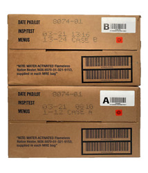 MRE MILITARY 2021 INSPECTION A B or A and B case $145.00