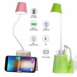 LED Desk lamp Dimmable Night reading Table light Touch control Rechargeable $11.61