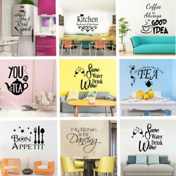 Vinyl Kitchen Rules Room Decor Art Quote Wall Decal Stickers Removable Mural # $4.35