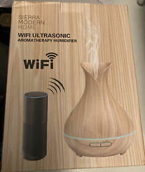 Sierra Modern Home Wifi Ultrasonic Aromatherapy Humidifier Open Box $25.00