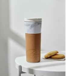 Starbucks Korea Marble Opera Leather Sleeves Grip Tumbler 473ml Offer Gift Card $42.50