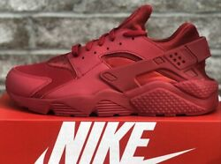 NIKE AIR HUARACHE CASUAL SHOES VARSITY RED NEW MENS $104.99