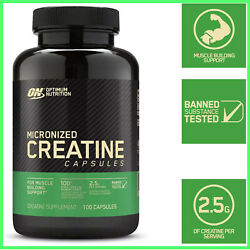 Micronized Creatine Monohydrate Capsules For Muscle Building Support Strengthamp;Po $20.99