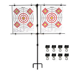 Highwild Adjustable Steel Paper Target Stand with 8 Clips $21.99
