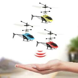 Children RC Flying Ball Toys Induction Helicopter Outdoor Game LED Lights Fun $9.14