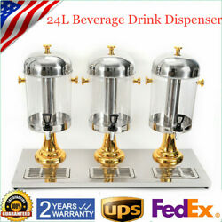 24L Tank Juice Beverage Dispenser Machine Cold Frozen Ice Drink Commercial Sale