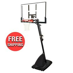 Spalding 54quot; Portable Angled Basketball Hoop with Polycarbonate Backboard $299.99