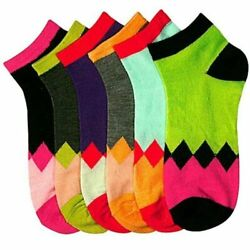 New Mixed Lot 6 Pair#x27;s Women Novelty Pattern Simple Low Cut Socks SZ 9 11  $8.99