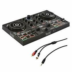 Hercules DJ Control Inpulse 200 w 8quot; Stereo Mini to Dual RCA Y Cable 6#x27; Kit $119.99