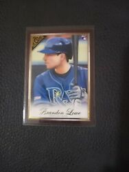 Brandon Lowe RC WOOD FRAME 2020 Gallery #44 Tampa Bay Rays MINT CONDITION $4.99