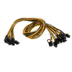 8 Pcs 6 Pin PCI e To 8 Pin 62 PCI e Power Cable 70cm For Graphic Cards GPU $22.27