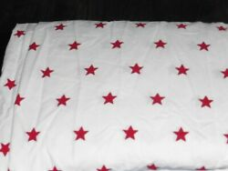 POTTERY BARN KIDS Star Spangled Fitted Sheet TWIN White Red Stars $14.99