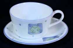 Antique Frog Soup Cup amp; Saucer Plate $37.53