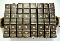 LIVES OF THE QUEENS OF ENGLAND 1854 8 Volumes Leather Bindings $350.00