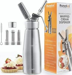 Runesol Siphon Kitchen For Foam Professional With 3 Nozzles Steel $247.06
