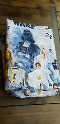Pottery Barn Kids STAR WARS A NEW HOPE Flat Fitted Sheets FULL No Pillowcase $39.99