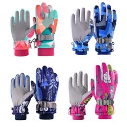 Wheel up Winter Ski Gloves Kids Boys Girls Mittens Waterproof Warm Outdoor Sport $13.99