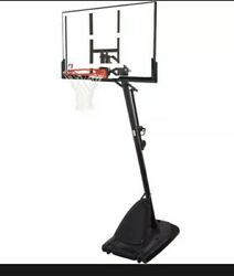 NBA Spalding 54quot; Portable Angled Basketball Hoop with Polycarbonate Backboard $199.99