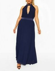 BOOHOO Plus Occasion Cut Out Occasion Maxi Dress Size 18 GBP 15.00
