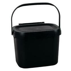 Addis 4.5L Kitchen Compost Storage Caddy Food Waste Recycling Bin Handle Black $34.30