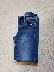American Eagle mens Next Level flex Slim Straight med wash jeans size 28x30 EUC $18.00