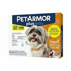 PetArmor Plus for Dogs Flea and Tick Prevention for Dogs 5 22 Lbs 6 treatments $19.99