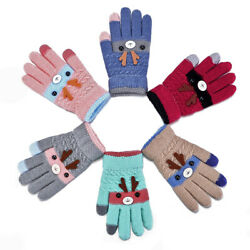 Full Finger Kids Baby Gloves Children#x27;s Gloves Boys Girls Mittens Thick Warm $3.27