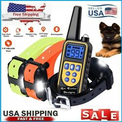2600 FT Dog Training US Collar Rechargeable Remote Shock PET Waterproof Trainer $39.99