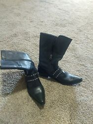 Harley davidson womens boots size 9 black leather $40.00