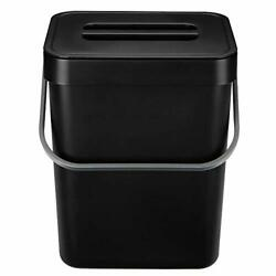 Kitchen Compost Bin for Countertop or Under Sink Composting 1.3 Gallons Black $18.87