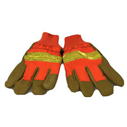 MCR Memphis Safety Gloves Leather Orange Insulated Large Winter Cold Weather NEW $9.97