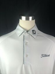 Footjoy Titleist XL Mens Shirt White Short Sleeve Golf Polo $49.95