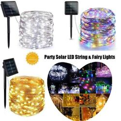 Solar LED Light Wire String Strip Rope Car Dance Party Controller 100 LED 8 mode $8.32